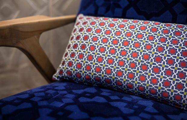 BROCHIER's fabrics Andromeda and Pegaso.
