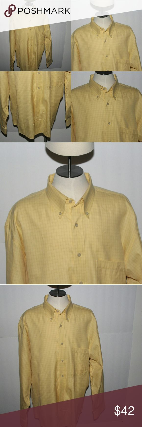 Pendleton Dress shirt Yellow Size XLarge Very nice and crisp Pendleton Shirt. Yellow dress shirt with pin striped checks. XL dress shirt. A must have for all business or casual encounters! Pendleton Shirts Dress Shirts
