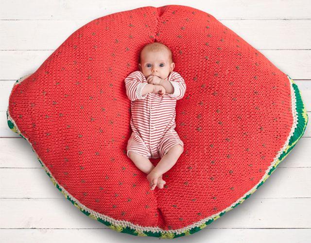 Craft Lovers ♥ Sandía Gigante por Knitink   http://www.katia.com/blog/es/2013/07/26/craft-lovers-0.000000e 02�-8/