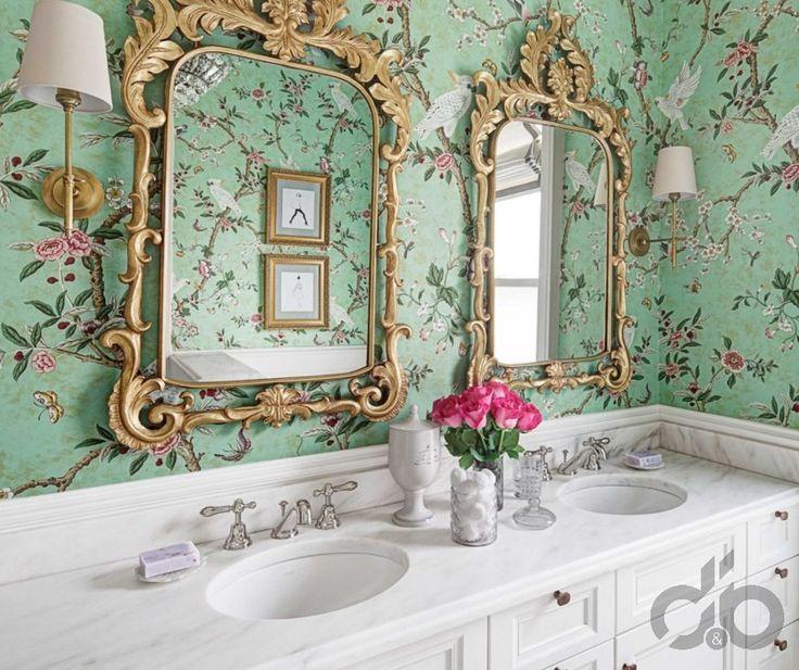 vintage banyo duvar kağıdı örneği