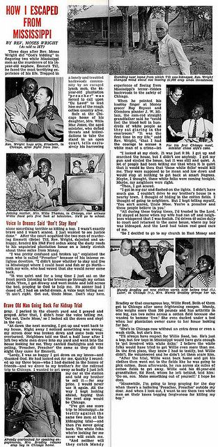 How Moses K Wright, Emmett Till's Uncle, Escaped from Mississippi After Emmett's Murder - Jet Magazine, October 13, 1955 | Flickr - Photo Sh...