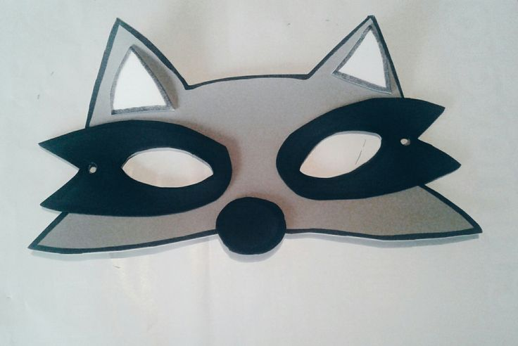 Racoon mask for kids