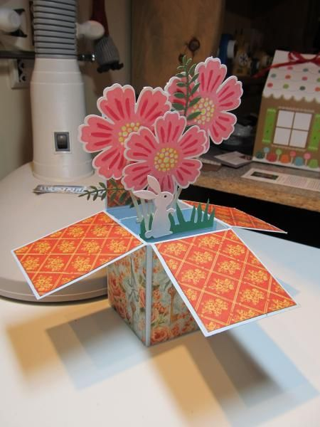 Card in a Box - The Flower series by figaro - Cards and Paper Crafts at Splitcoaststampers