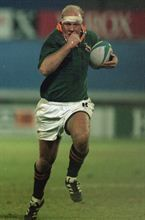Adriaan Richter captained the Springboks for one Test in a World Cup match against Canada during the 19995 Rugby World Cup. (Gallo Images)
