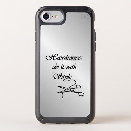 Hairdressers Do It With Style iPhone 10 - diy cyo customize create your own #personalize