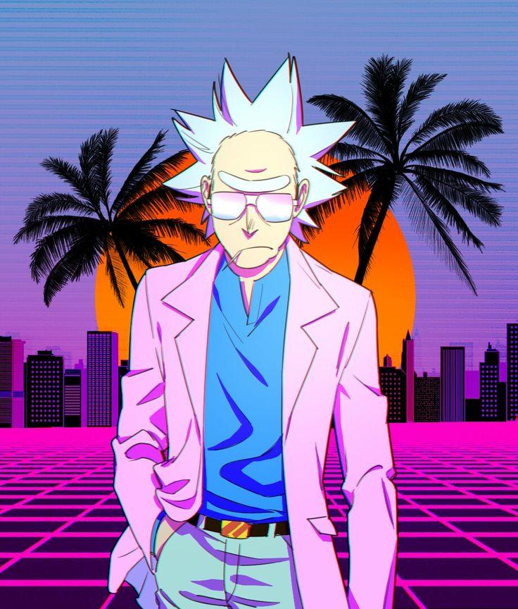 Gravity Falls Wallpaper Celular Hd Miami Rick Caricaturas Rick Morty Rick I Morty Y