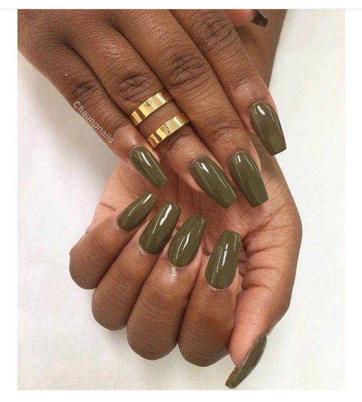 Presto Gel 110 Replica On The Beautiful Uluvmegz Olive Nails Green Nails Nails