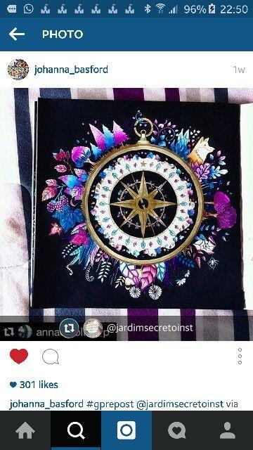 Compass Adult ColoringColouringColoring BookCompassDoodleJohanna