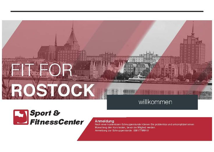 Screen Design - Fit 4 Rostock - Titel page
