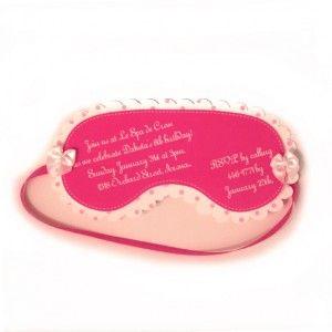 spa mask invite and make you own lip balm activity!