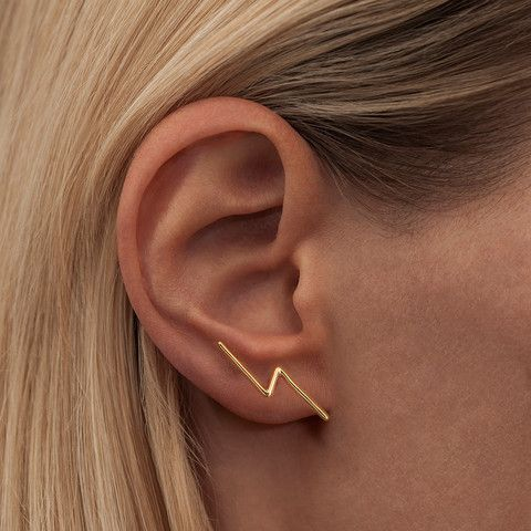 THUNDER · EAR STUD · GOLD PLATED