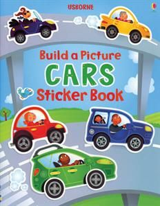 usborne books more build a picture cars sticker book