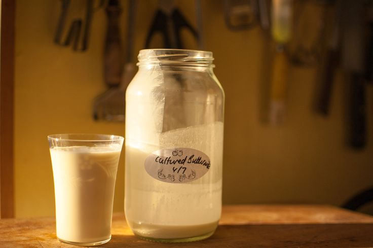 Cultured buttermilk is a great way to start your day.  Give your gastrointestinal health a kick-start.