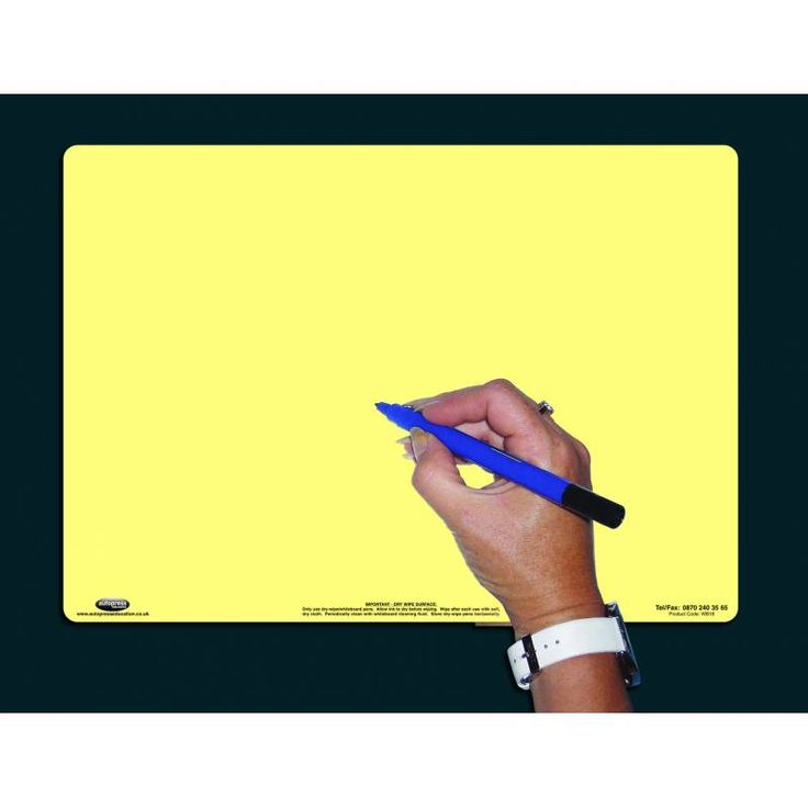 A4 TINTED DRY-WIPE BOARD/PEN/BAG