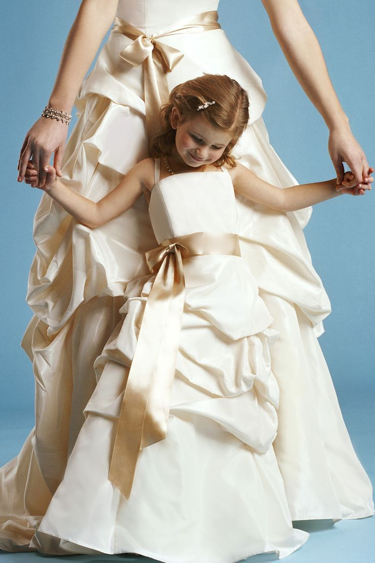 """Another pinner said:  """"Spaghetti straps with natural waist satin dress for flower girl"""" For any girl who needed a special dress really.: Natural Waist, Wedding Ideas, Wedding Dresses, Flower Girl Dresses, Spaghetti Straps, Flower Girls"""