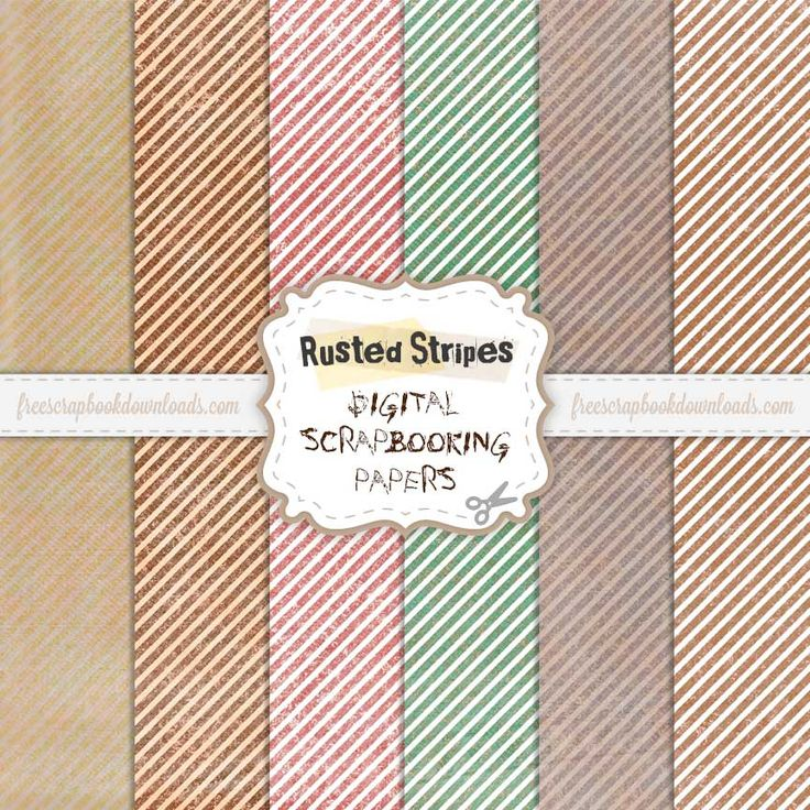 Monday's Guest Freebies ~ Free Scrapbook Downloads  ✿ Follow the Free Digital Scrapbook board for daily freebies: https://www.pinterest.com/sherylcsjohnson/free-digital-scrapbook/ ✿ Visit GrannyEnchanted.Com for thousands of digital scrapbook freebies. ✿ Grunge Rusted Stripe Scrapbooking Paper Pack thumbnail