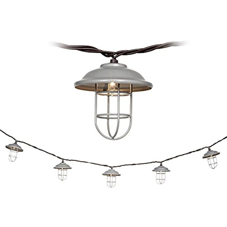 10-Light Galvanized Metal Lantern Indoor/Outdoor String Ligh *** You can find more details by visiting the image link. (This is an affiliate link) #IndoorStringLights