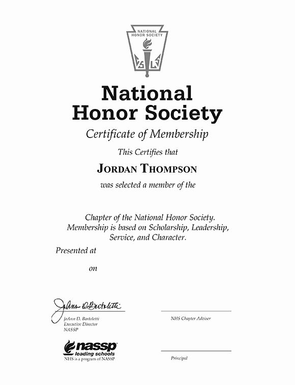 National Honor Society Certificate Template Lovely National Honor Society Tassel Edition Certificate National Honor Society Honor Society Certificate Template