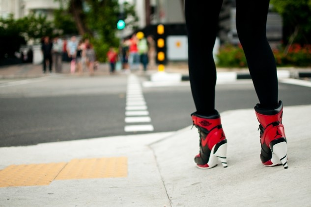 On a trip to Singapore, photographer Jason Martini spotted a local Michael Jordan heels, which capture the city's unique street-style aesthetic.