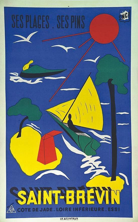 Les 401 meilleures images du tableau sncf sur pinterest affiches r tro affiches de voyage et - Office du tourisme saint brevin ...