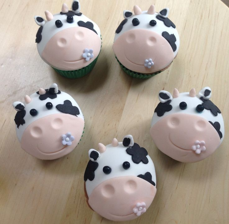 Cow cupcakes | My Cakes | Pinterest