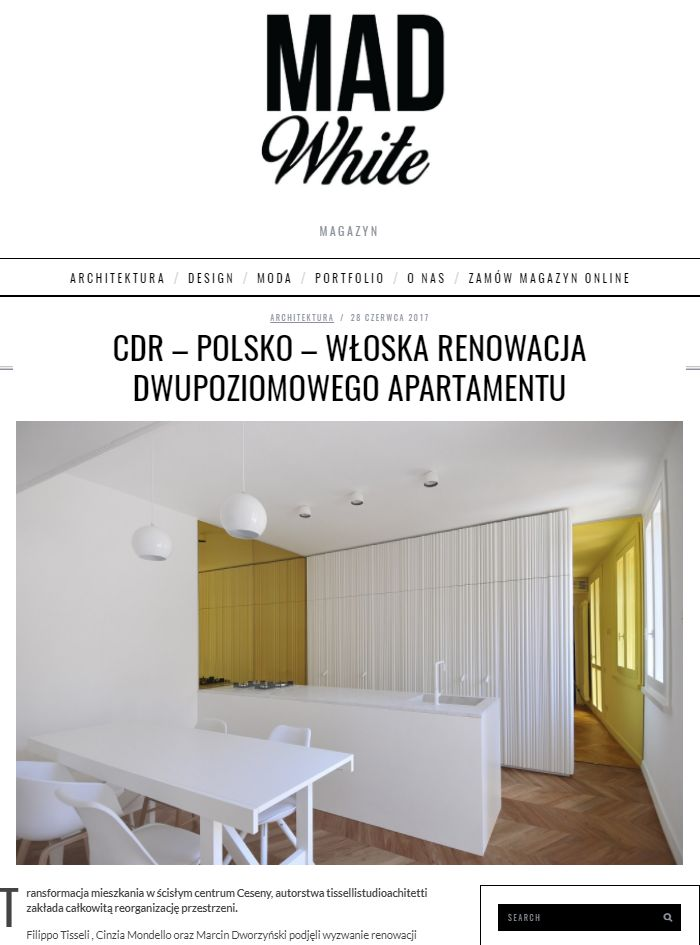 #tissellistudio single family penthouse in Cesena, published by WhiteMAD