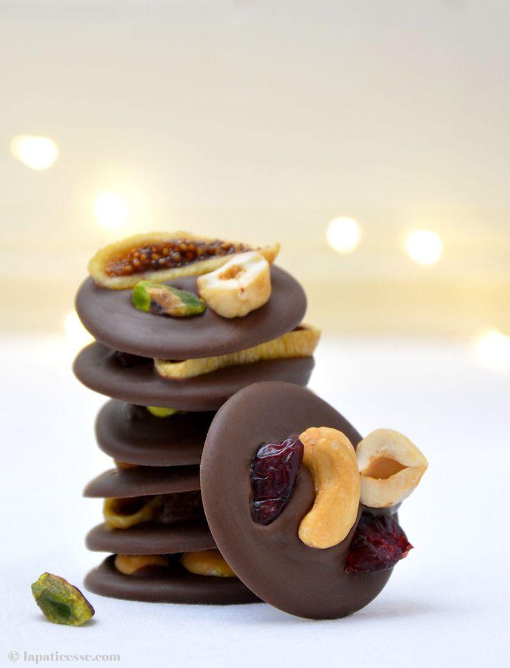 Mendiants au chocolat Rezept Vollmilch