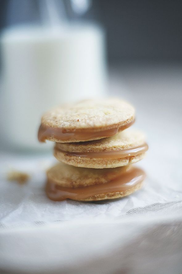 [ Recipe: Salted Caramel Cookies ] Using sugar, water, butter, sea salt, and cream. ~ from NickyAndMax.com