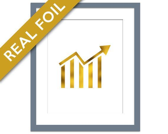 Stock Ticker Gold Foil Art Print - Banking Wall Art - Finance Poster - Wall Street Poster - Gold Stock Market Art Print - Money Art Print #FinancePoster