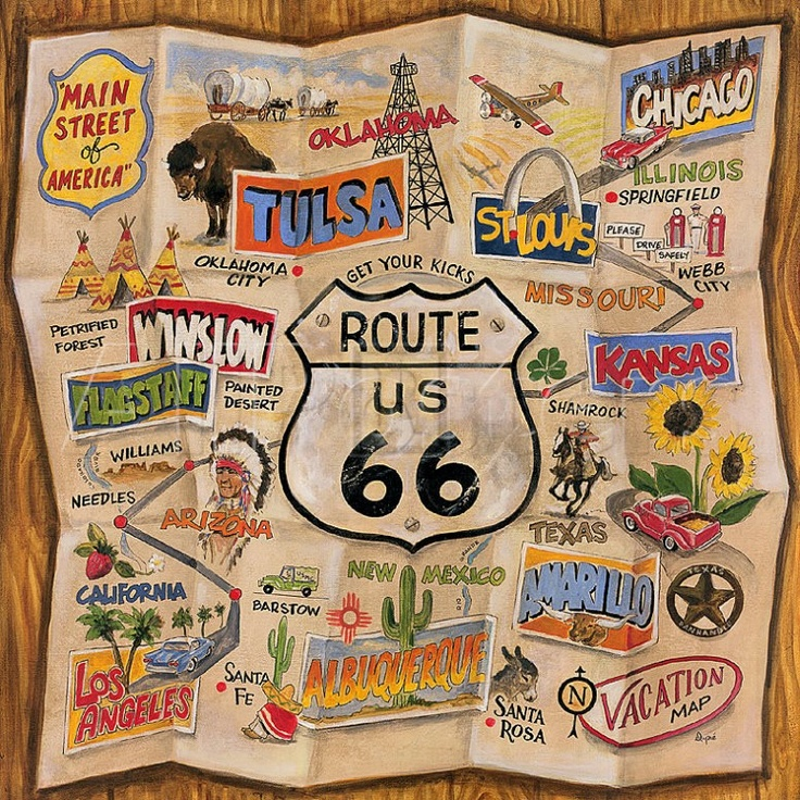 Make Your Own Travel Map Route 66 Road Trip