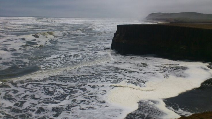 El clima cambia en unos minutos en playa Puaucho