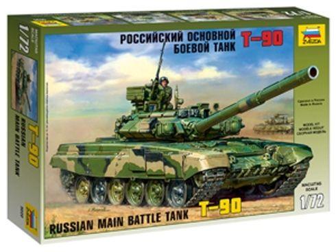 ZVEZDA Russian Model Tank Kit 5020 Main Battle Tank T-90 1/72 Scale