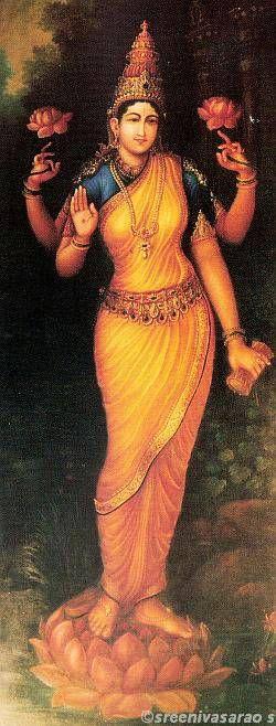 Sri Mahalakshmi sthanaka by Shilpi Sri Siddalingaswamy of Mysore