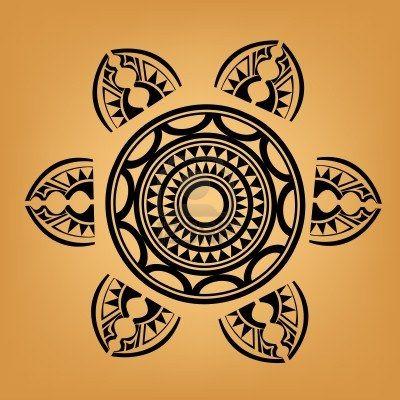 Maori   Polynesian Style tattoo  Stock Photo