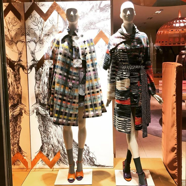 """MISSONI, London, UK, """"Every leaf speaks bliss to me, fluttering from The Autumn Tree"""", photo by Window Shoppings, pinned by Ton van der Veer"""