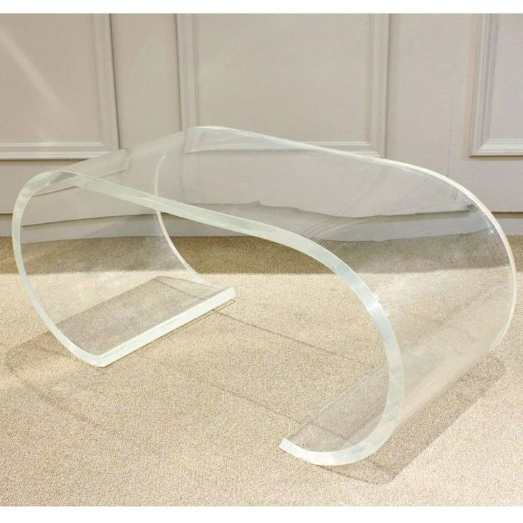 Thick Lucite Coffee Table by Karl Springer, 1970s 2