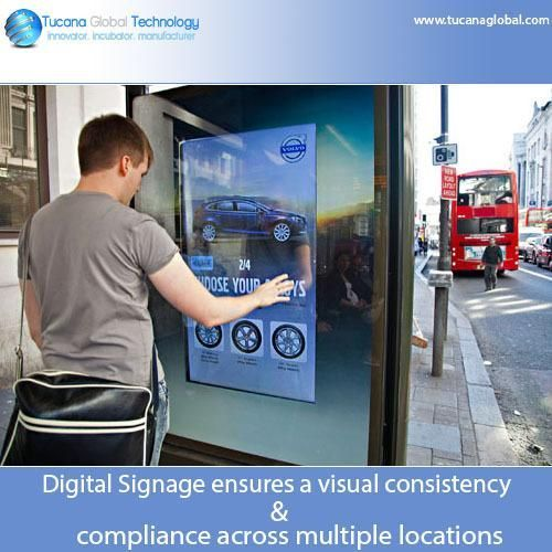 #DigitalSignage ensures a #visual #consistency & compliance across multiple #locations. #TucanaGlobalTechnology #Manufacturer #HongKong
