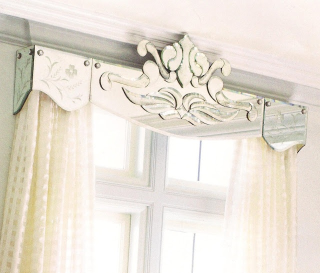 mirrored cornice box for window treatment
