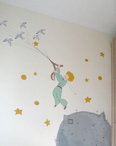 Μικρός πρίγκιπας. Ζωγραφική στον τοίχο σε βρεφικό δωμάτιο. Δείτε περισσότερες ιδέες διακόσμησης για το παιδικό ή βρεφικό δωμάτιο στη σελίδα μας  www.artease.gr
