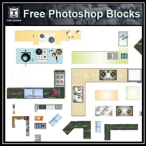 Kitchen Design Software Freeware: Free Photoshop PSD Kitchen Blocks