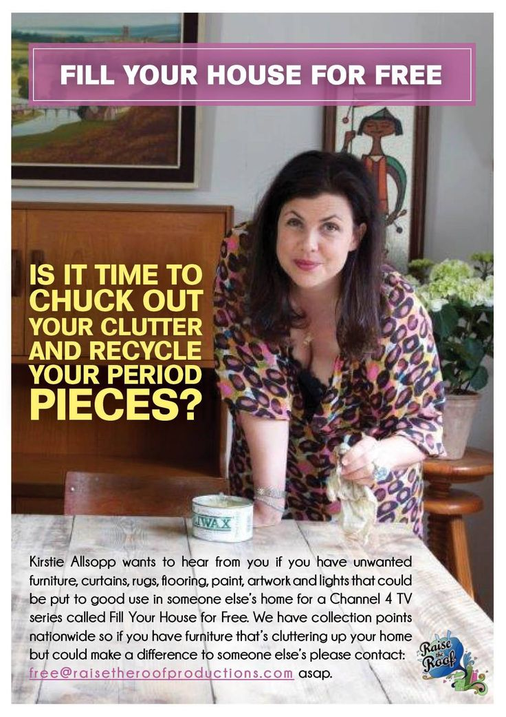 Kirstie Allsopp - Is it time to chuck out your clutter and recycle your period pieces?