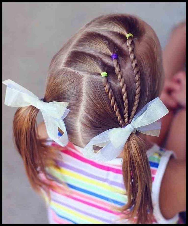 Einfaches Frisuren für kleine Mädchen, die 2 Minuten oder weniger … | Damen Frisuren