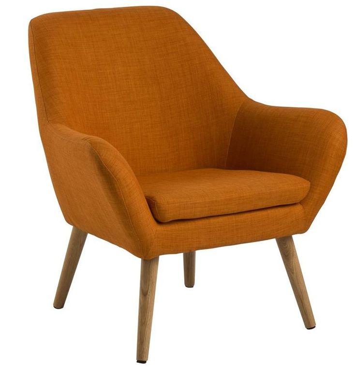 Adele fauteuil oranje - Robin Design