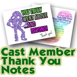 How to thank Disney World Cast Members - including 8 thank you note designs you can print