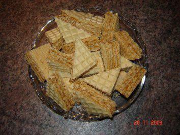 Weihnachtsplätzchen : Ungarische Waffelschnitten - Rezept