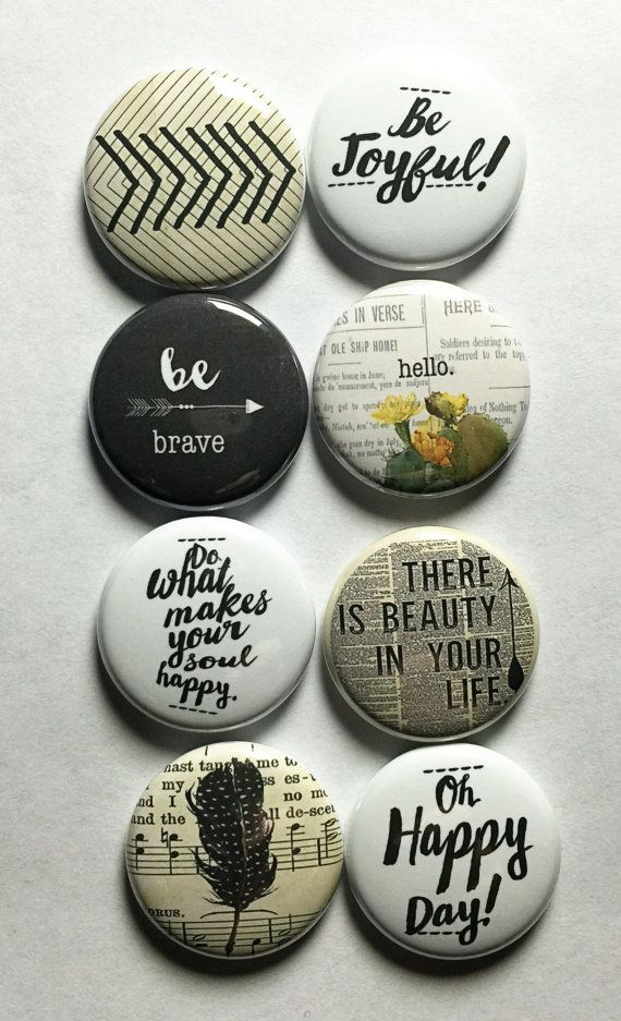 Inspirational Words 1 Flair by aflairforbuttons on Etsy
