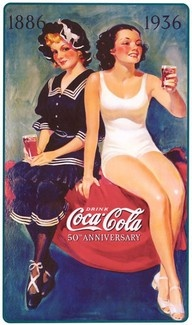 Coke Ad showing the difference between a Victorian (1886) and 1930s (1936) lady in their bathing suits. Sort of history of pin- ups :)
