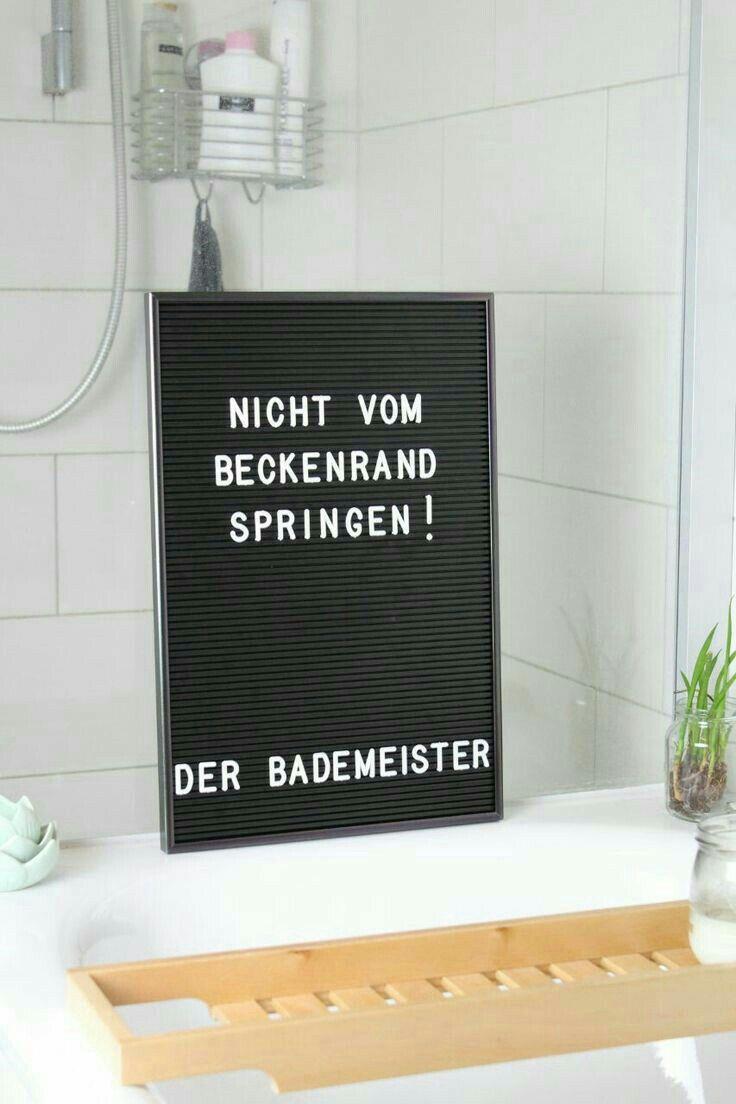 Cooler Spruch fürs Letterboard | Nicht vom Beckenrand springen ...