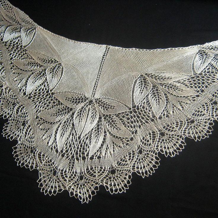Silk Hand Knit Shawl. Wedding Shawl. Free Shipping by LaceShawlsWorld on Etsy ww…