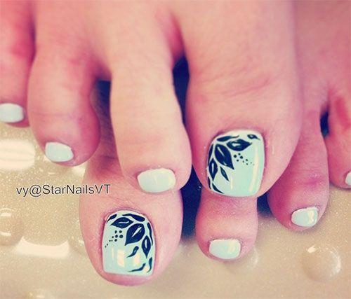 Fall Autumn Toe Nail Art Designs